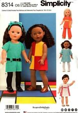 Simplicity Sewing Pattern 8314 Doll Mod Girl Dress Pants Tops 60s