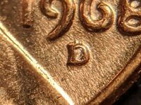 1968-D RPM-D/D/D/D Lincoln Memorial Cent Extremely RARE