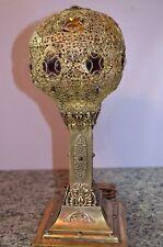 Amazing Moroccan style 1900's filigree bronze brass slag cabochons