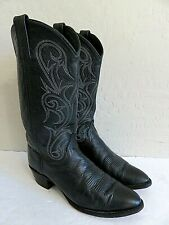 Dan Post Cowboy Boots Black Leather Womens 9M