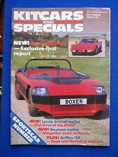 Kit Cars & Specials Magazine Sept. '86 -  Boxer Sprint, VW Shogan, Allora