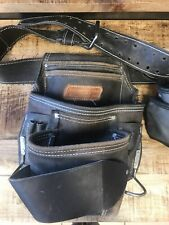 AWP HP LEATHER TOOL BELT - 1 LEATHER 1 NYLON POUCH 1LL-605-L-1