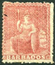 BARBADOS-1861 (4d ) Dull Rose-Red Sg 25 MOUNTED MINT V28662