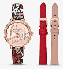 Michael Kors Mini Pyper Rose Gold Tone Watch Set MK2848 33mm