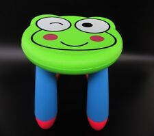 1X Frog Kids Toddler Children Plastic Round Play Stool Chair