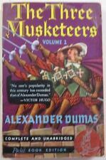 THE THREE MUSKETEERS VOLUME 1 ALEXANDER DUMAS POCKET BOOK #36 FIRST PB ED 1940