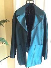ST. JOHN Couture -Teal Wool & Silk Open Blazer Jacket Size 8