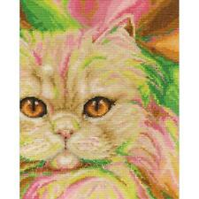 Counted Cross Stitch Kit PERSIAN Cat By:  DMC