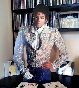 """Michael Jackson Display Stand Standee 22"""" Figure Thriller Billie Jean"""