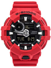 New Casio G-Shock Red Resin Strap Men's Watch GA700-4A