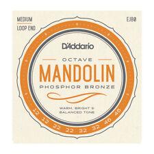 More details for d'addario ej80 phosphor bronze octave mandolin strings 12-46 med gauge loop end