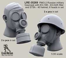 Live Resin 1/35 #35269 PMG-2 Russian Military Gasmask with EO-18K, EO-62K #1