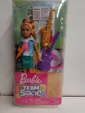 Barbie-Team Stacie-Music Playset with Girl Doll & Instruments. New in box.