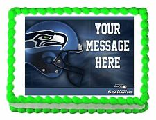 Seattle SEAHAWKS football edible cake image topper decoration frosting sheet