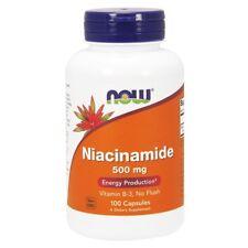 NOW FOODS, NIACINAMIDE, Vitamin B3, 500mg, 100 Kaps. BESTPREIS !!!