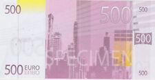 BILLET FACTICE AFIBEL 500 EURO
