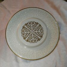 Lenox Holididay 24 Gold Embossed SNOWFLAKE  Cake Plate/ Platter