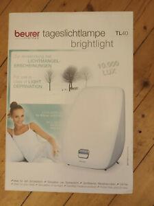 Tageslichtlampe Therapielampe TL 40 Beurer wenig gebraucht mit Verpackung