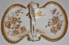 Hammersley Bone China bonbon dish with handle, made in England, vintage