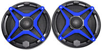 "SSV WP-A6 6.5"" Waterproof Speakers+Blue Grilles for Polaris RZR/ATV/UTV/Jeep"