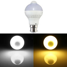 B22 Bayonet LED 5W PIR Infrared Motion Control Sensor Light Lamp Bulb AC 220V