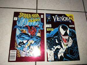 Marvel VENOM LETHAL PROTECTOR 1 + Spiderman 2099 1 Newsstand Red Foil Cover Lot