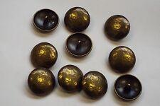 8pz 20mm Antico Oro appannato effetto metallo cappotto cardigan knitwear pulsante 3653