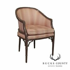 Century Furniture Faux Bamboo Mauve Lacquered Tub Chair