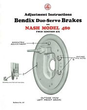 1930 Nash Model 480 Brake Adjustment and Trouble Finder