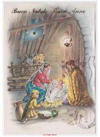 Acabado Brillante Tarjeta Postal Navidad Religiosas Vintage Sagrada Familia