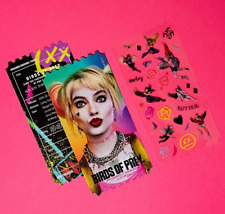 Birds Of Prey Harley Quinn Korea MegaBox Cinema Limited Special Movie Ticket Set