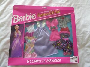 1993 BARBIE FASHION ACCESSORIES 6 OUTFITS + 3 PRS OF SHOES - MATTEL 68073-92 B68