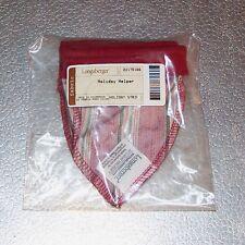 Longaberger Holiday Stripe Holiday Helper 2005 Basket Liner ~ Brand New in Bag!