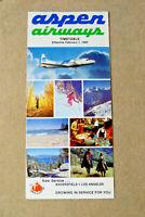 Aspen Airways - Timetable - Feb 1, 1980