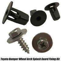 20x Toyota Wheel Arch Splash Guard Under Tray Screws Set Moulding Clips Grommet