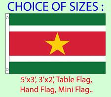 Suriname Flag Choice Polyester 5x3' 3x2',Hand Flag,Table Flag.Free P&P