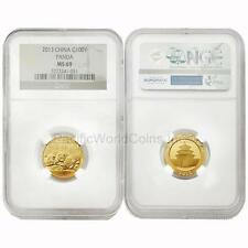 China 2013 Panda 100 Yuan 1/4 oz Gold Coin NGC MS 69