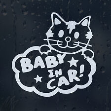 Baby In Car Funny Kitten Decal Vinyl Sticker For Window Bumper Panel