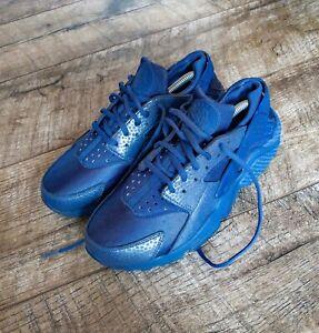 Nike huarache blue sneakers womens size 41 air trainers american shoes run gym