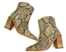 Free People Barclay Snakeskin Leather Western Boot Booties Size 39  US 8-8.5 New