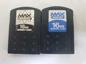 2X USED MAX 16MB MEMORY CARDS  FOR PLAY STATION 2  PS2 SYSTEM Free Shipping