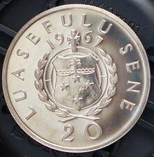 1967 Samoa Proof Coin 20 Sene KM # 5 Only 15000 Minted RARE