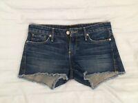 Juicy Couture Dark Blue Jean Shorts Women Size 25