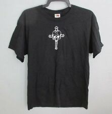 FRUIT OF THE LOOM SOLID BLACK 100% COTTON COCKY SHORT SLEEVE GRAPHIC TEE *SZ L*