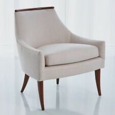 "30"" L Malthe  Chair Muslin Its Sleek Lines Revisit Classic Beauty Mid-century Er"