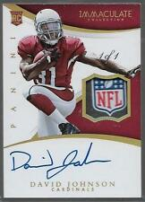 2015 Immaculate NFL Shield Patch 1 of 1 David Johnson Auto True 1/1 Rc