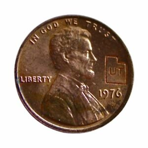 RARE! Collectible 1976 Bicentennial Lincoln Memorial Utah State Stamped Penny