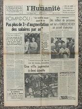 L'Humanité - (17 juin 1964) Salaires - Khrouchtchev/Copenhague - Japon