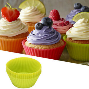 12Pcs Silicone Muffin Cupcake Mold Cup Cake Pan Form to Bake Kitchen Tool