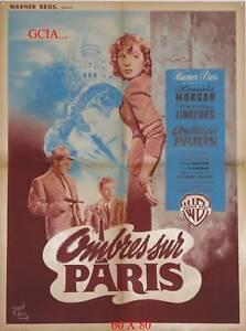 OMBRES SUR PARIS - D.MORGAN -  D.DAVES - 1948 - WB -ON LINEN